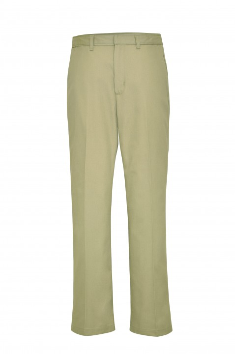 Girls' Plain Front Pants - Khaki