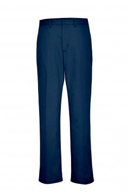 Girls' Plain Front Pants - Navy