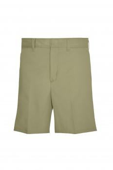7502 - Girls' Plain Front Shorts - Khaki