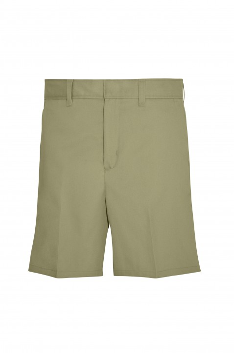 7502 - Girls' Plain Front Shorts - Khaki