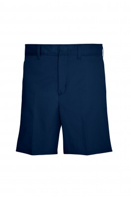 7502 - Girls' Plain Front Shorts - Navy