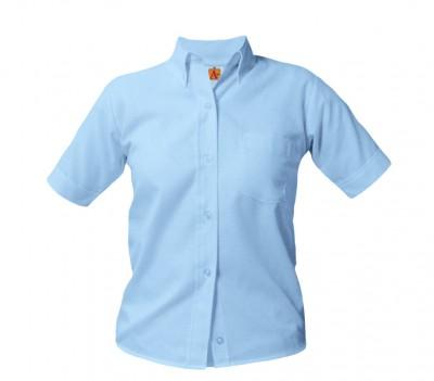 e0759260ffa Girls  Short Sleeved Oxford blouse (Plus) (3 Pc. Pack)